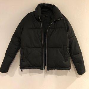 Express // Zip Front Short Puffer Coat